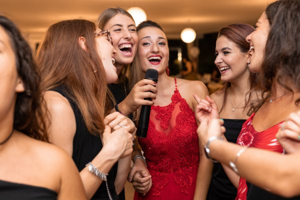 Group of nicely dressed woman at a party