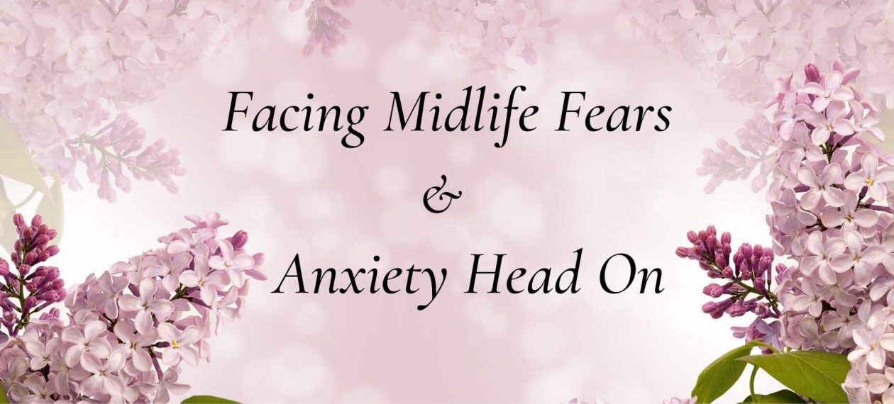 Facing Midlife Fears banner with pink background