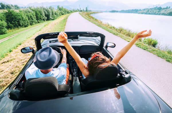 Couple escaping to new life in sports car
