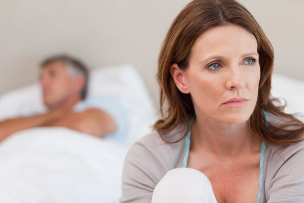 Sad wife unhappy in her marriage