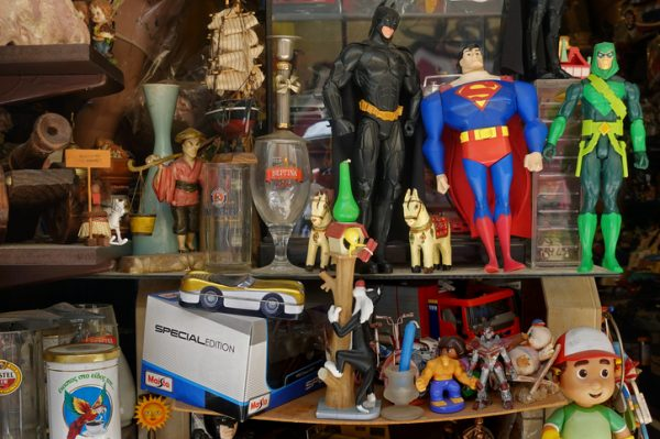 Collection of kids action figure toys