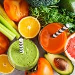 Smoothies and Juices with fruit and veg