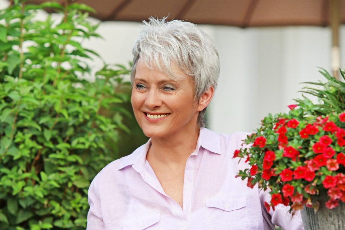 Mature woman thriving during Menopause